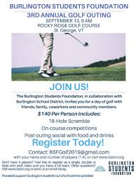 Bsf 3rd Annual Golf Outing Sept 13