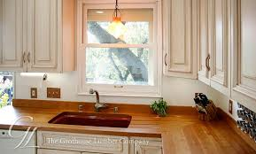 cherry countertop with matching wood backsplash