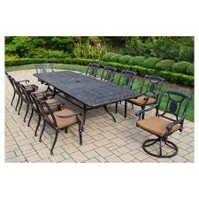 Aluminum patio furniture Tropitone Global Sources Victoria 11piece Aluminum Patio Dining Set Target