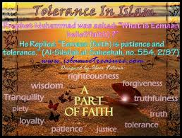 tolerance in islam a part of faith islamic treasure