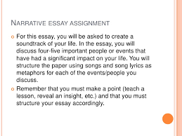 narrative essay presentation narrative essay assignment<br