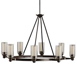 Circolo Brushed Nickel Eight Light Oval Chandelier
