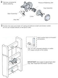 kohler shower handle valve replacement parts removal