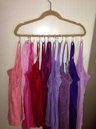 hang tank tops on a hanger with inexpensive shower curtain hooks