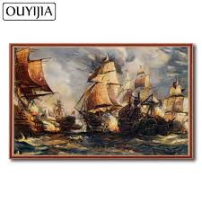 Paintings On Nautical Charts Us 4 66 37 Off Ouyijia Nautical Chart 5d Diy Diamond Painting Ship Square Sailboat Embroidery Rhinestone Mosaic Crossstitch Home Decoration Oil In