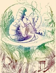 smoking caterpillar alice in wonderland painting john tenniel smoking caterpillar alice in wonderland art print