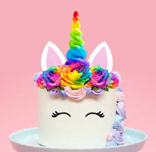 image is loading large edible wafer 2d rainbow unicorn horn flowers