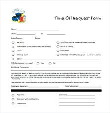 Employee Day Off Request Form Co Free Time Forms Printable Trejos Co