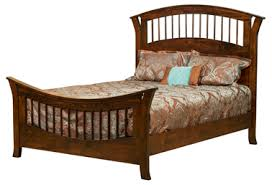 Wooden Spindle Bed | Traditional Bed Frame - Amish Furniture Factory