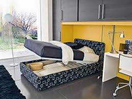 cool bedroom furniture. Bedroom. Blue Bed With Storage Under The Combined White Wooden Table On Cool Bedroom Furniture R