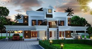 4356 sq ft double floor contemporary home design veedu