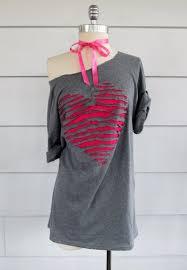 t shirt makeovers diy k a boo heart shaped off shoulder t