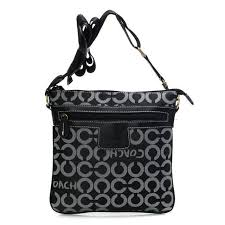 ... coach legacy swingpack in signature medium black crossbody bags awt