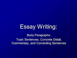 topic sentences concrete detail commentary and concluding topic sentences concrete detail commentary and concluding sentences