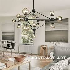 dutti d0017 led chandelier creative personality kitchen island bedroom designer art molecular glass led magic bean