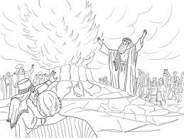 Small Picture Elijah Called Down Fire from Heaven coloring page Free Printable