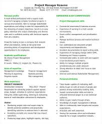 Project Management Resumes Project Manager Resume Example Project ...