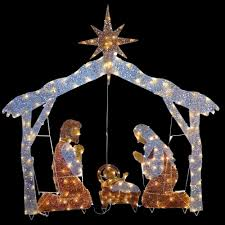 Lighted Nativity Set For Yard Details About Christmas Nativity Scene Outdoor Lighted Clear Lights Yard Holiday Decor 72 Inch