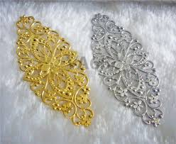diy silver gold filigree lace extension large chandelier earrings part