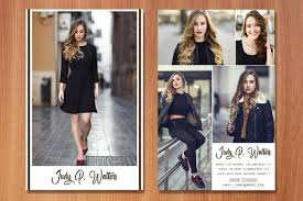 Modeling Comp Card Template Fashion Model Comp Card Ms Word Photoshop Template Instant Download