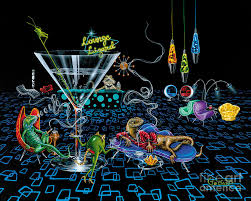 retro painting lounge lizard by michael ard