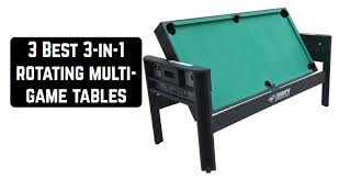 3 Best 3-in-1 rotating multi-game tables | Game table zone