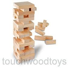 Wooden Brick Game Tumbling tower game wooden building blocks game Great childrens 11