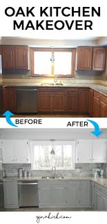 DIY Kitchen Makeover Ideas - Oak Kitchen Makeover - Cheap Projects Projects  You Can Make On A Budget - Cabinets, Counter Tops, Paint Tutorials, ...
