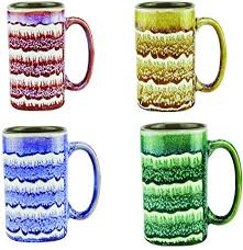 Find essential drinkware, as well as coffee makers and espresso machines, at macy's. Amazon Com Mug Large Coffee Mugs 16 Ounce Unique Glazed Ceramic Coffee And Tea Cups Set Of 4 Kitchen Dining
