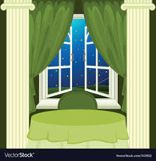 open window at night. Exellent Open Open Window At Night Vector Image Inside Window At Night V