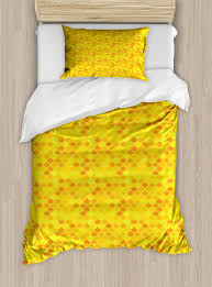 fish scale twin size duvet cover set traditional japanese pattern yellow fish squama mermaid scales decorative 2 piece bedding set with 1 pillow sham