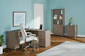 gray picture of realspace magellan collection l shaped desk