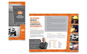 Tri Fold Samples Manufacturing Engineering Tri Fold Brochure Template Word