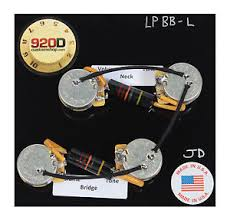 les paul wiring harness kit cts 500k long split shaft bumblebee image is loading les paul wiring harness kit cts 500k long