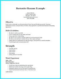 Sample Bartender Resume Bartender Resume Sample Bartender Resume