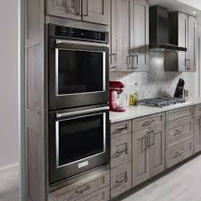 double electric wall oven self cleaning