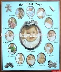month baby picture frame template girl 12 photo gi