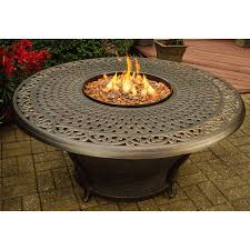 Red Ember San Miguel Cast Aluminum 48 in. Round Gas Fire Pit Chat Table |  Hayneedle