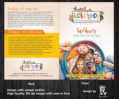 elegant playful brochure design for lollipop nursery by rflames brochure design by rflames for lollipop nursery brochure design project design 2205860