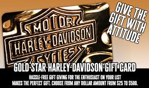 gift card gold star harley davidson