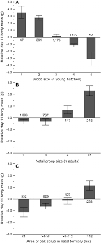 scrub size figure 2 raw data plots showing the relative body mass of 11 day
