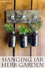Diy Garden Projects Diy Hanging Garden For Jarred Herbs Crafts Unleashed Garden