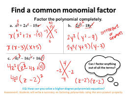 eq how can you solve a higher degree polynomials equation