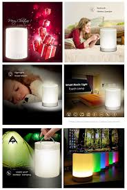 Led Light Speaker Ubit Smart Touch Portable Multifunctional Bluetooth Speaker With Smart Touch Led Mood Lamp Muisc Player Hands Free Bluetooth
