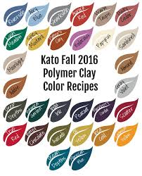 Kato Polyclay Polymer Clay Color Mixing Recipe Ebook For Fall Winter 2016 Polymer Clay Color Mixing Tutorial