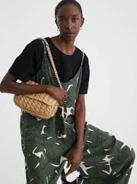 <b>Leaf Print</b> Strappy Jumpsuit - Khaki - <b>Woman</b> - Dresses - parfois.com