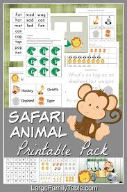 Download now or view online the free printable farm animals flashcards for kids on english language with real images. Safari Animals 30 Page Homeschool Printable Pack Free Safari Themed Unit Study Resources Large Family Table