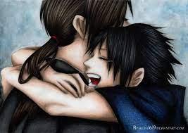 itachi & sasuke hug drawing fanart naruto
