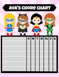 Personalized Printable Reward Sticker Chart Digital File
