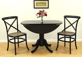 chic design round drop leaf dining table 15
